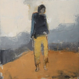 "Figure in Yellow Pants ● 22"" x 22"" ● Oil ● SOLD"