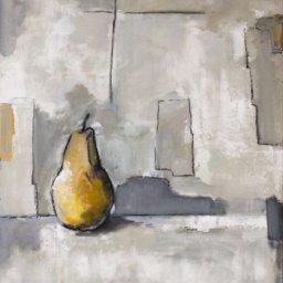 """Pear Study ● 18"""" x 24"""" ● Mixed Media ● $1300"""