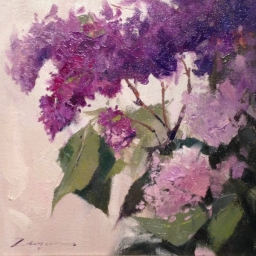 "Lilac Study ● 10"" x 10"" ● Oil ● SOLD"