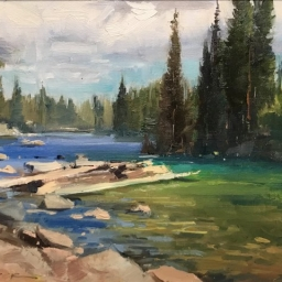 "Alpin Riverbeds ● 8"" x 10"" ● Oil ● $550"