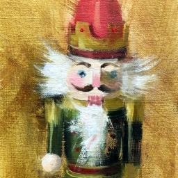 """Portrait of a Nutcracker VIII ● 5"""" x 7"""" ● Oil ● SOLD"""