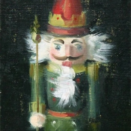 "Portrait of a Nutcracker VII ● 5"" x 7"" ● Oil ● SOLD"