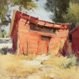 """Late Summer Coop ● 8"""" x 8"""" ● Oil ● $600"""