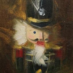 "Portrait of a Nutcracker III edited 1 ● 4"" x 6"" ● Oil ● SOLD"