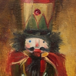 "Portrait of a Nutcracker IV ● 4"" x 6"" ● Oil ● $375"