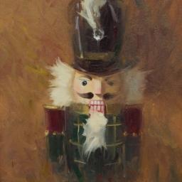 "Portrait of a Nutcracker V ● 12"" x 16"" ● Oil ● SOLD"