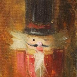"""Portrait of a Nutcracker VI ● 4"""" x 6"""" ● Oil ● SOLD"""