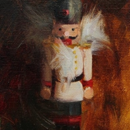 "Portrait of a Nutcracker II ● 4"" x 6"" ● Oil ● SOLD"