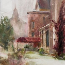 """Discovery Academy ● 8""""  x 10"""" ● Oil ● $435"""