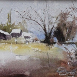 "Pleasant Grove ● 4"" x 6"" ● Watercolor ● SOLD"