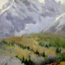 "Glistening Peak ● 24"" x 36"" ● Oil ● $4800"