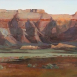 "Vermillion Cliffs ● 18"" x 36"" ● Oil ● $3100"