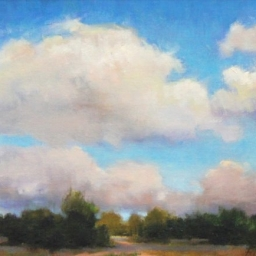 "Desert Clouds ● 12"" x 16"" ● Oil ● $900"