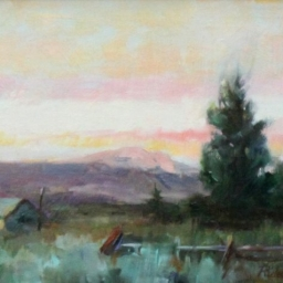 "Dry Farm Wyoming ● 8"" x 10"" ● Oil ● SOLD"