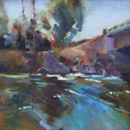 "Provo River in Midway ● 10"" x 10"" ● Oil ● SOLD"