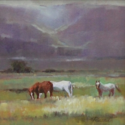 "Grazing in Sanpete ● 12"" x 12"" ● Oil ● SOLD"