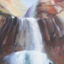 "Falling Water ● 24"" x 48"" ● Oil ● SOLD"