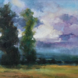 """Embracing the Clouds ● 16"""" x 20"""" ● Oil ● SOLD"""