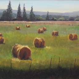"Teton Hay Bales ● 36"" x 48"" ● Oil ● SOLD"
