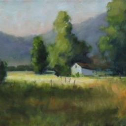 "Out of the Way Farm ● 12"" x 24""● Oil ● $1600"