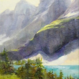 """Canadian Rockies ● 12"""" x 16"""" ● Oil ● SOLD"""
