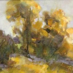 """Scrub Oak ● 9"""" x 12"""" ● Oil ● SOLD"""
