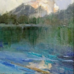 "Tetons Last Light ● 8"" x 10"" ● Oil ● SOLD"