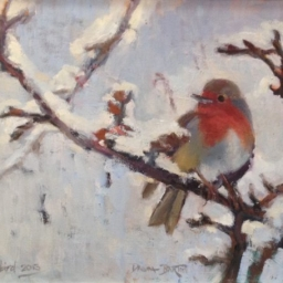 "The Snowbird ● 12"" x 16"" ● Oil ● SOLD"