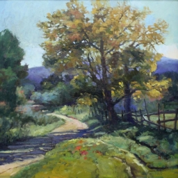 "Bend in the Road ● 24"" x 24"" ● Oil ● SOLD"