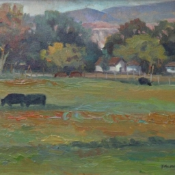"Meadow Cows ● 11"" x 14"" ● Oil ● SOLD"