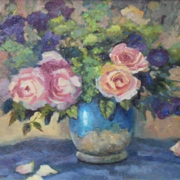 "Shabby Chique Roses ● 16"" x 20"" ● Oil ● SOLD"
