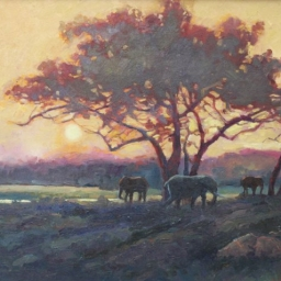 "African Sunset ● 24"" x 30"" ● Oil ● SOLD"