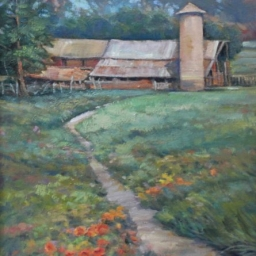 """East Side View ● 18"""" x 24"""" ● Oil ● $2200"""