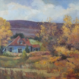 "Bear Lake Favorite Home ● 20"" x 24"" ● Oil ● $2800"