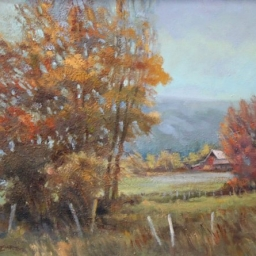 "Kamas in Autumn ● 18"" x 24"" ● Oil ● $2200"