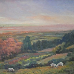 """Valley View ● 22"""" x 28"""" ● Oil ● $2400"""