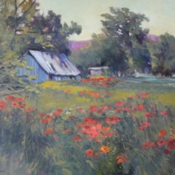 "Spring Poppies ● 18"" x 24"" ● Oil ● SOLD"