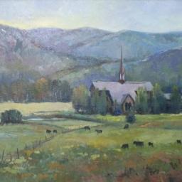 "Chapel in the Meadow ● 20"" x 24"" ● Oil ● SOLD"