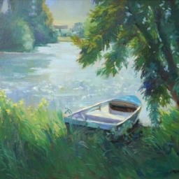"Lets Go Fishing ● 18"" x 24"" ● Oil ● $2200"