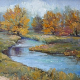 "River Trees ● 16"" x 20"" ● Oil ● $1600"