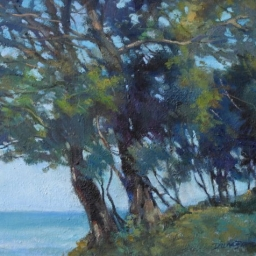 "Pines on Ocean Edge ● 16"" x 20"" ● Oil ● $1600"