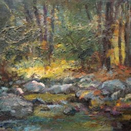"Caaton Stream ● 16"" x 20"" ● Oil ● $1500"