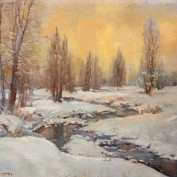 "Cottonwood Creek ● 24"" x 30"" ● Oil ● $3800"