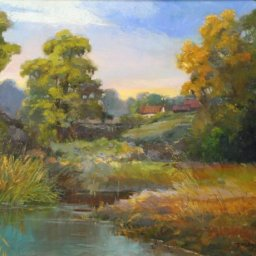 "A Favorite Place ● 22"" x 28"" ● Oil ● $2800"