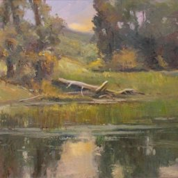 "South Pond ● 18"" x 24"" ● Oil ● $2400"