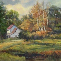 "Old Farm Homestead ● 24"" x 36"" ● Oil ● $4000"