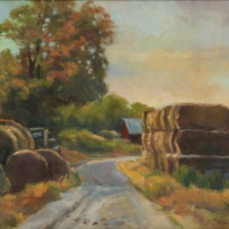 "Hay Bales Road ● 14"" x 18"" ● Oil ● $1200"