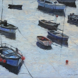 "Moored Boats (England) ● 20"" x 24"" ● Oil ● $2400"