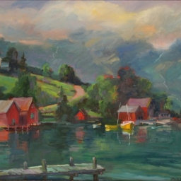 "Rosendal Fjord Bay ● 20"" x 24"" ● Oil ● SOLD"