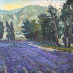"Lavender Field ● 20"" x 24"" ● Oil ● SOLD"